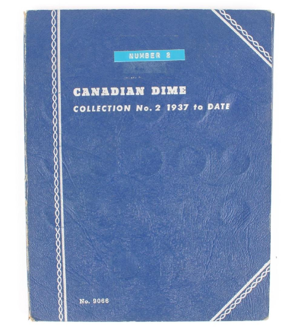 1938 TO 1968 SILVER CANADIAN DIME BOOK SET