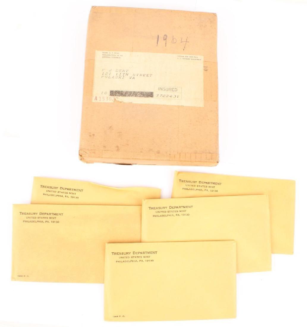 (5) 1964 UNITED STATES SILVER U.S. MINT PROOF SET