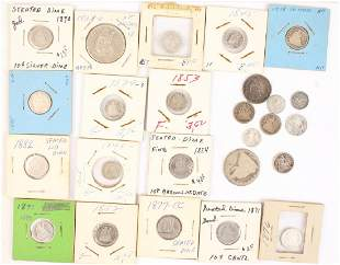 MIXED UNITED STATES SEATED LIBERTY SILVER COINS