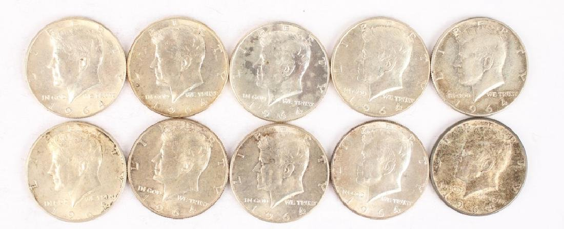 $5.00 FACE VALUE 90% SILVER UNITED STATES HALVES