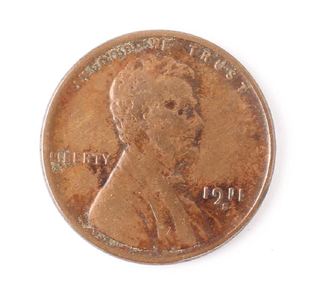 1911 S LINCOLN HEAD CENT SEMI-KEY DATE