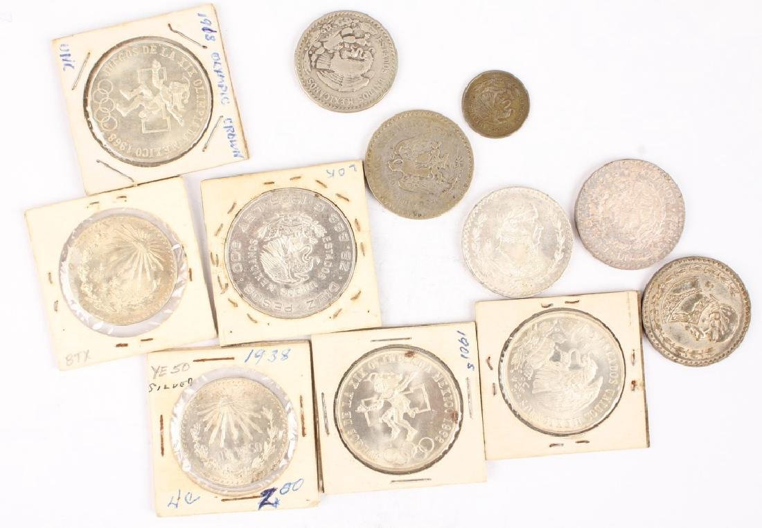 MIXED LOT OF 20TH CENTURY MEXICAN SILVER COINAGE