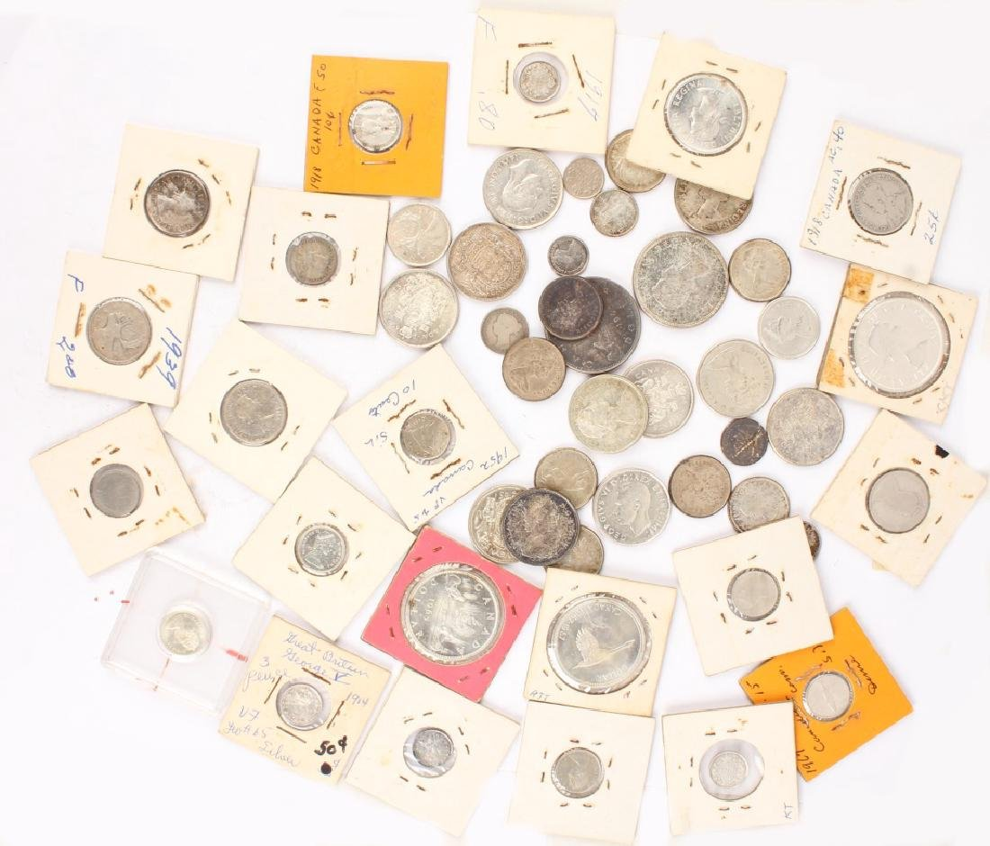 MIXED LOT OF CANADIAN SILVER COINAGE