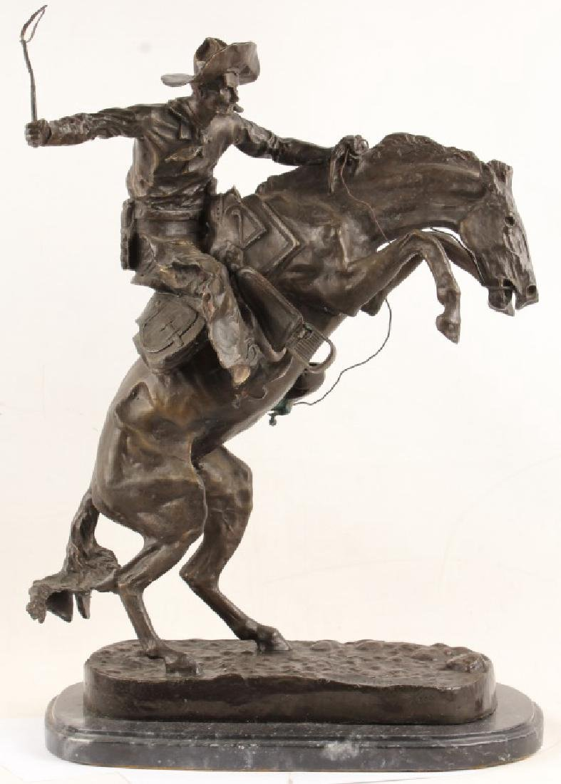 AFTER REMINGTON BROCO BUSTER BRONZE STATUE