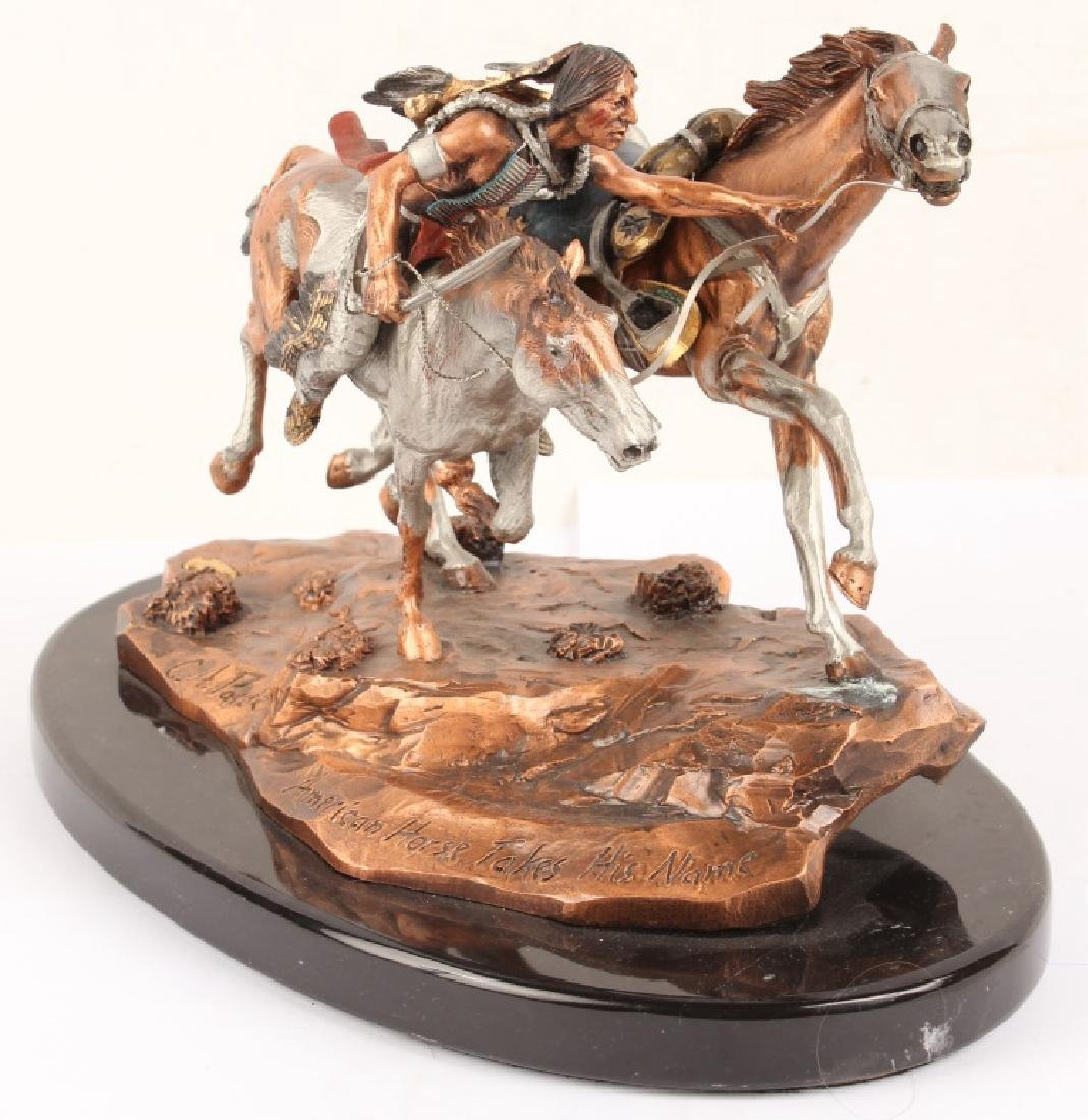 LEGENDS AMERICAN HORSE TAKES HIS NAME STATUE