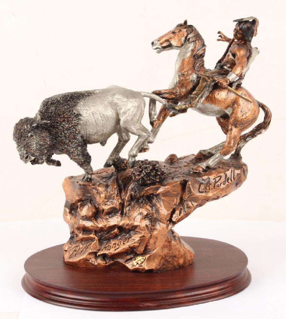 LEGENDS CLIFF HANGER LIMITED EDITION PEWTER STATUE