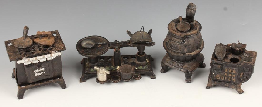 CAST IRON MINIATURES KITCHEN SCALE STOVES OVENS