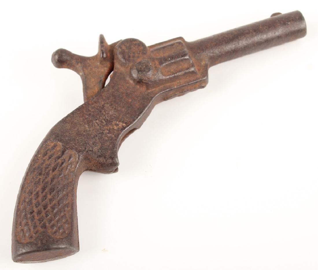 CAST IRON PLUCK MINIATURE CAP GUN - 2