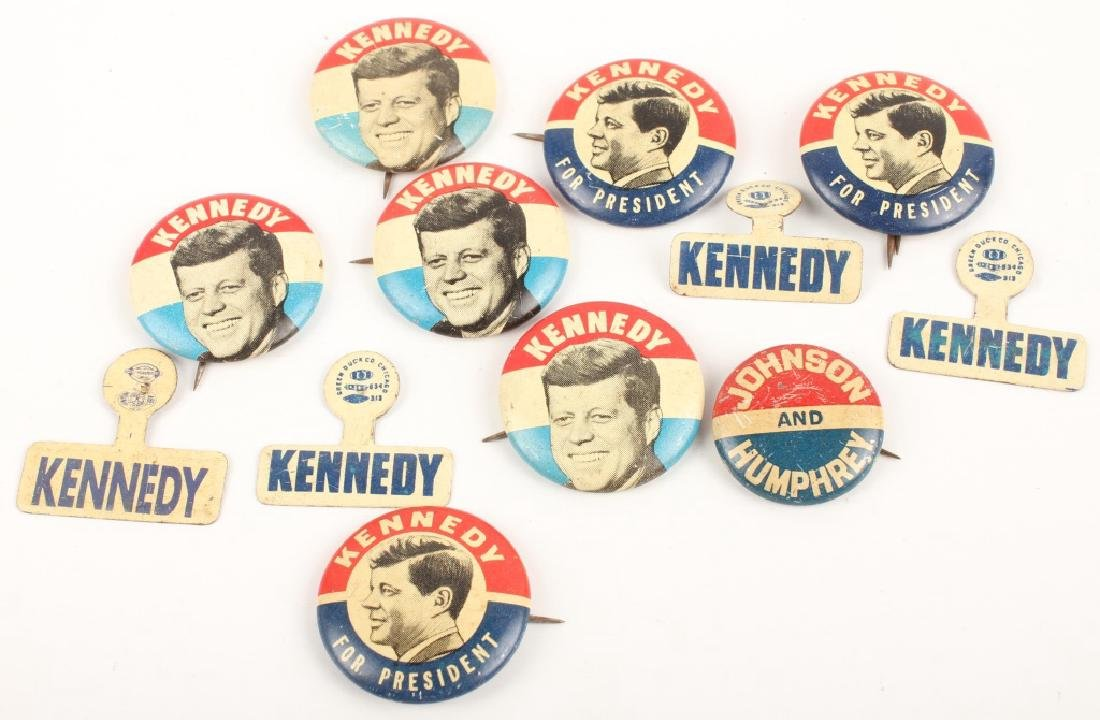 PRESIDENT J F KENNEDY LBJ CAMPAIGN BUTTONS PINS