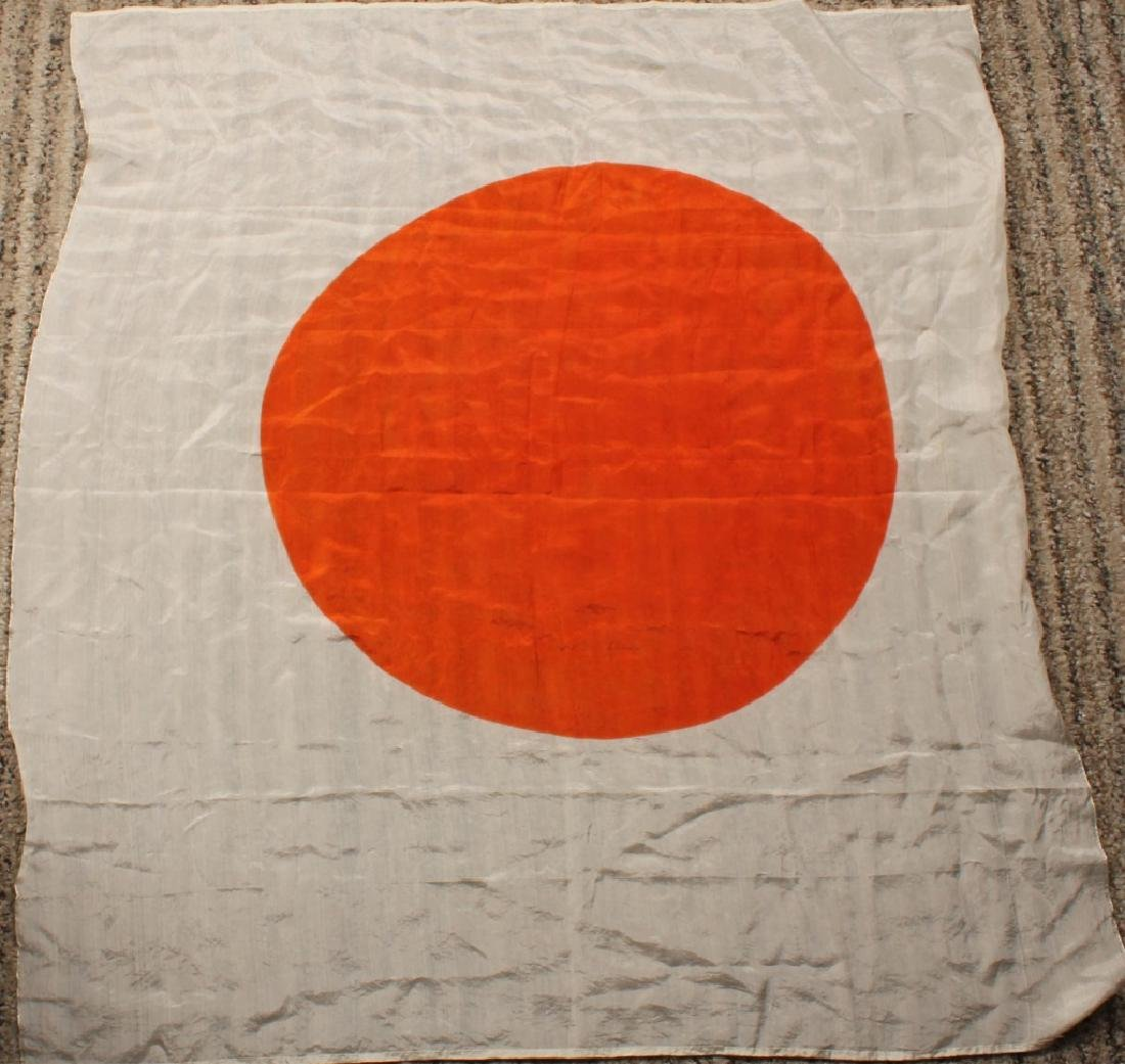 WWII JAPANESE RISING SUN SILK FLAG