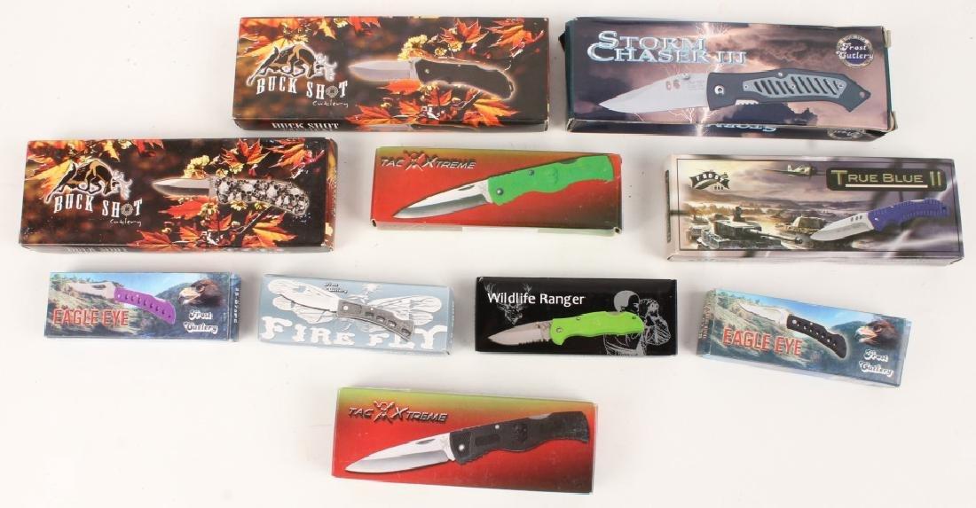 POCKET KNIFE DEALER LOT OF 10 NEW IN BOX