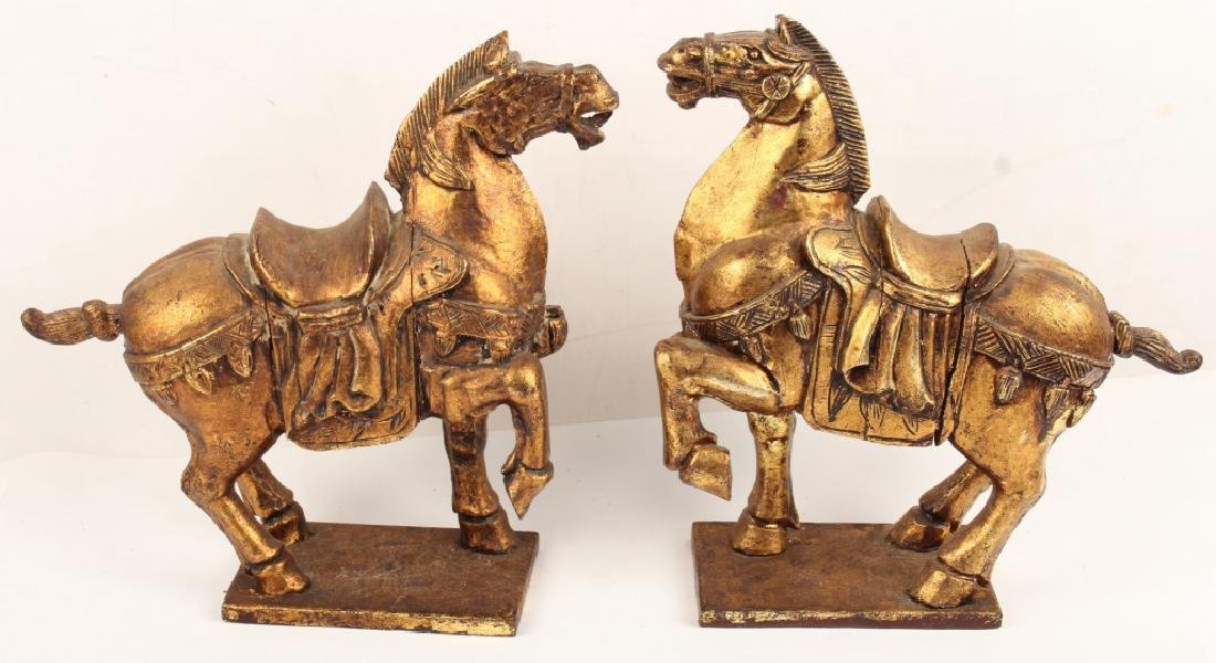 PAIR CONTEMPORARY CHINESE TANG EQUESTRIAN STATUES