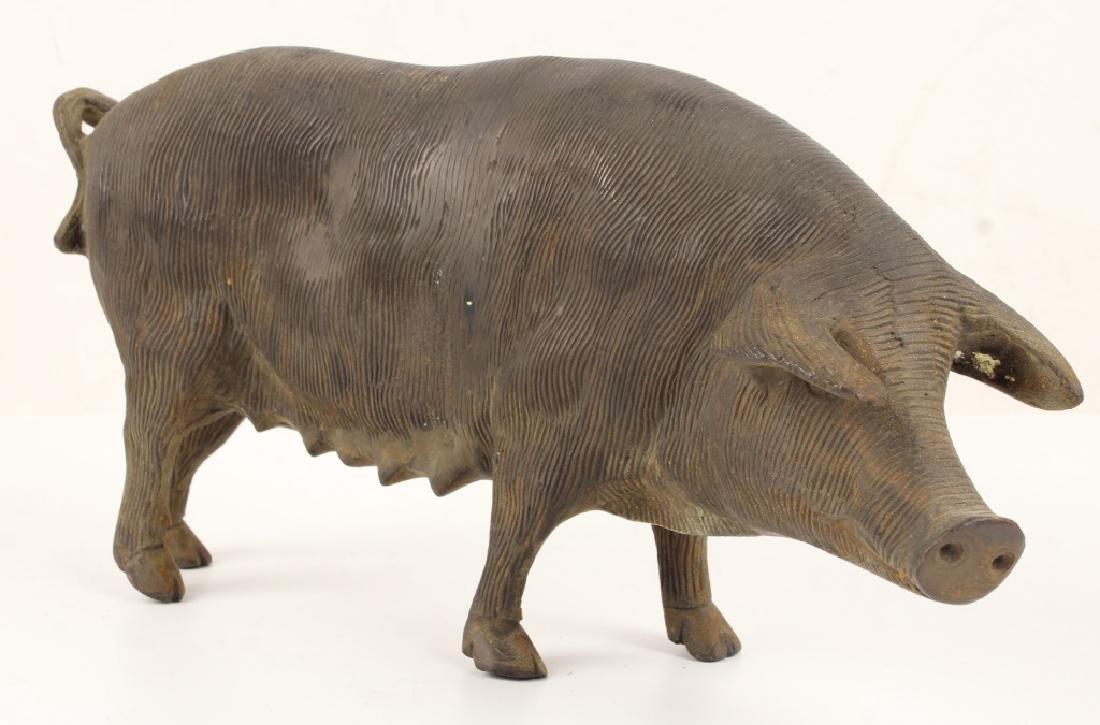19TH CENTURY CAST IRON PIG DOOR STOP