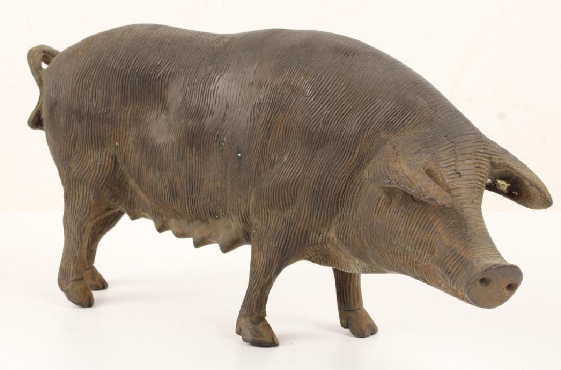 19TH CENTURY CAST IRON PIG DOOR STOP