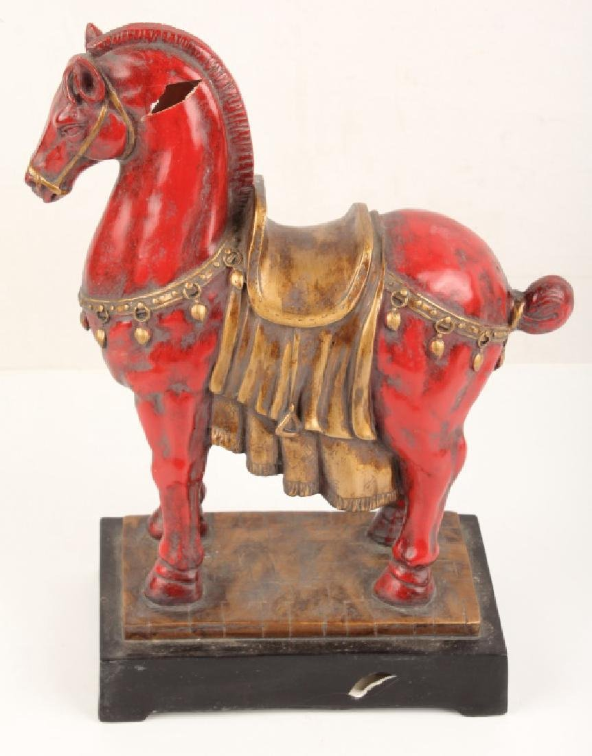MARK ROBERTS 20TH CENTURY TANG EQUESTRIAN STATUE