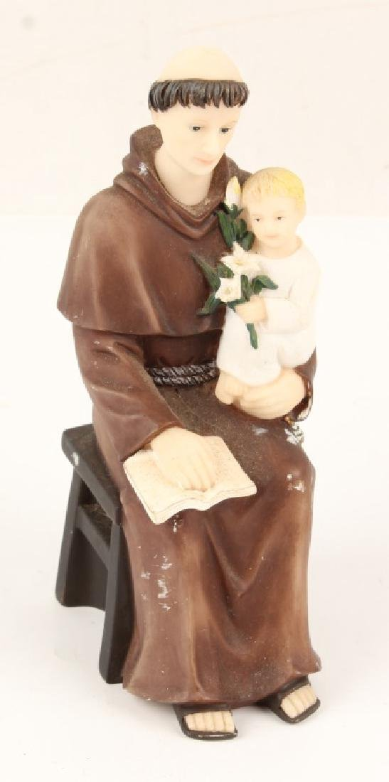 PLASTER FIGURINE SAINT ANTHONY WITH BABY JESUS