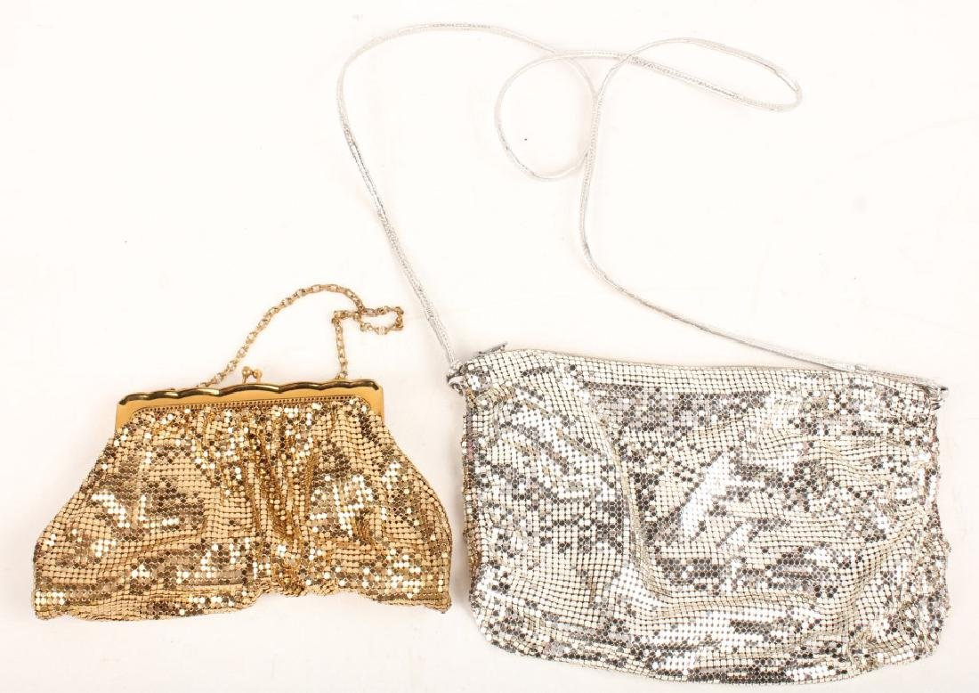 TWO WHITING & DAVIS CHAINLINK PURSES