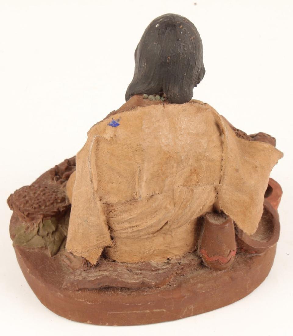 TOM CLARK NANTAHALA & LITTLE BEAR WOODEN SCULPTURE - 4