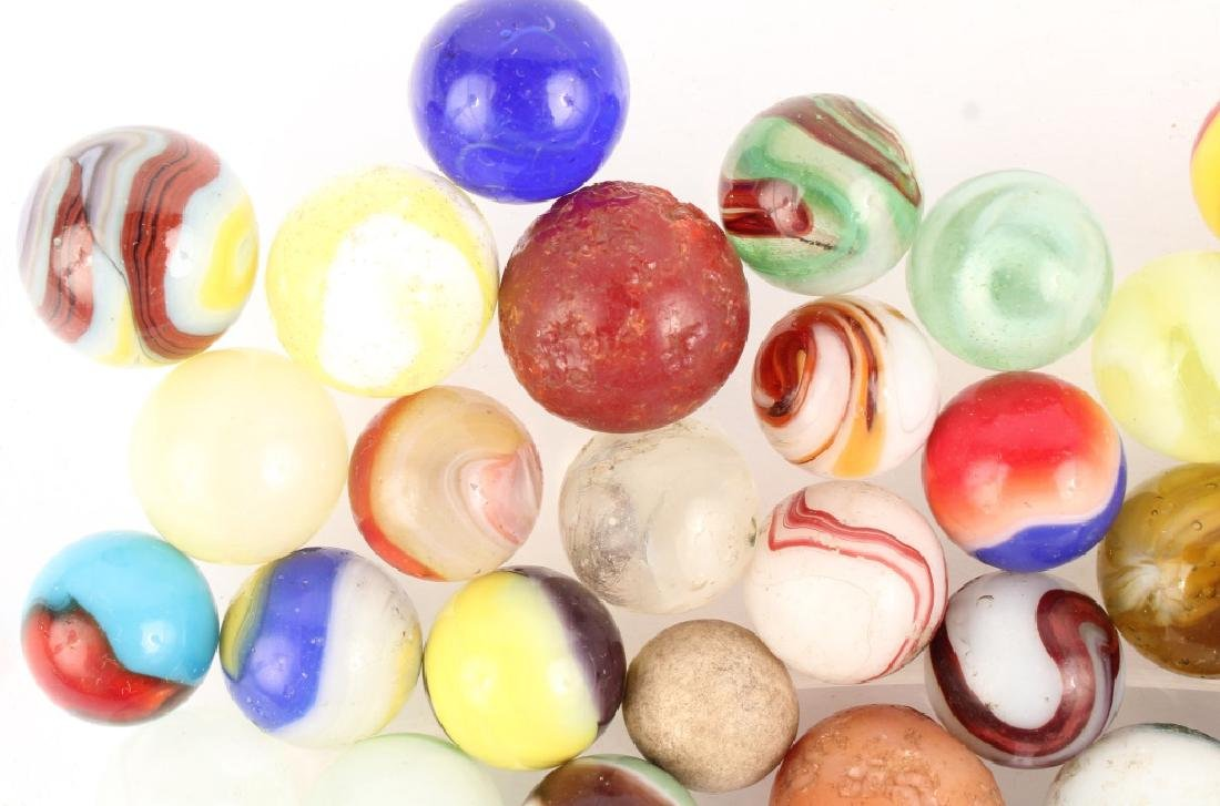 MIXED LOT OF ANTIQUE MARBLES - 2