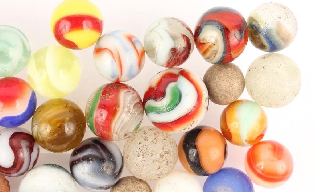 MIXED LOT OF ANTIQUE MARBLES - 3