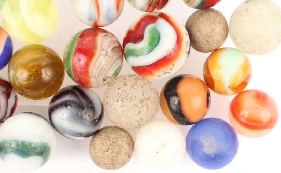 MIXED LOT OF ANTIQUE MARBLES - 4