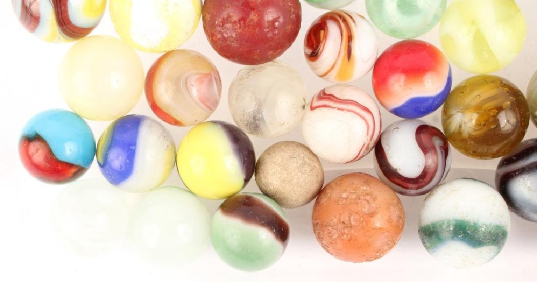 MIXED LOT OF ANTIQUE MARBLES - 5