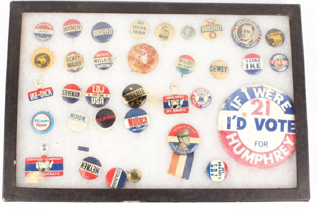 COLLECTION OF 20TH CENTURY POLITICAL PINS
