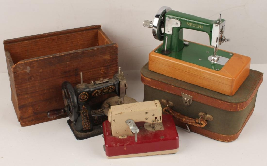 LOT OF 3 ANTIQUE SEWING MACHINES