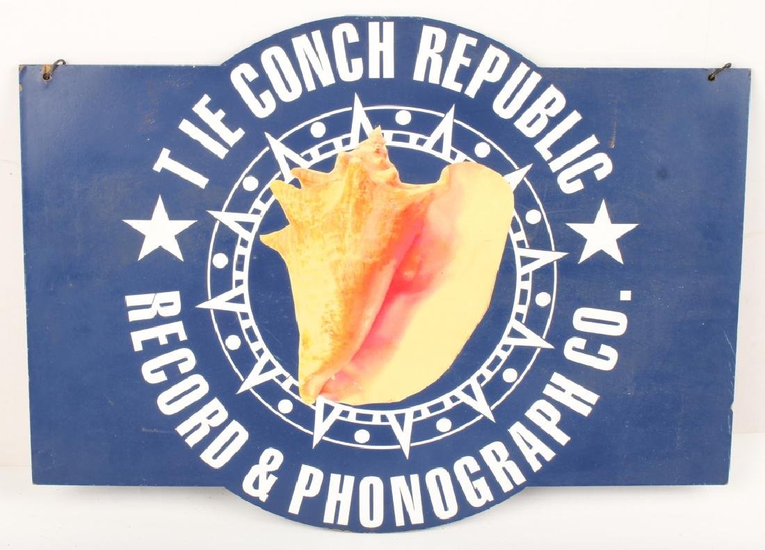 THE CONCH REPUBLIC RECORD & PHONOGRAPH SIGN