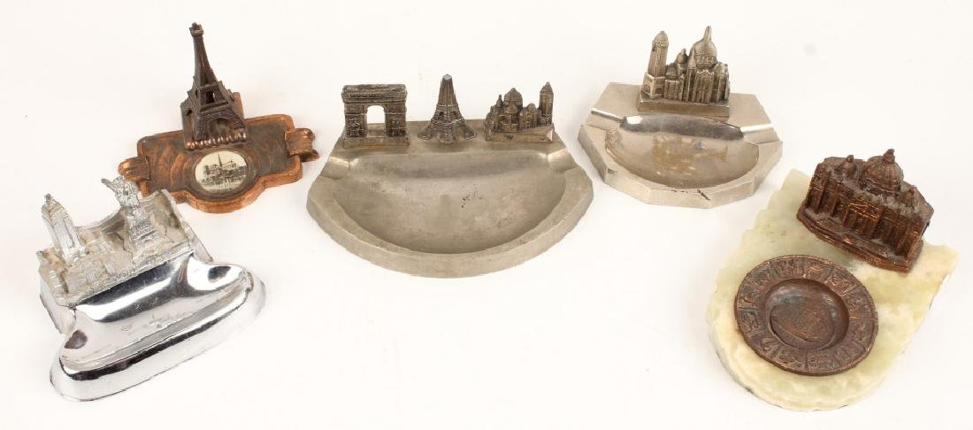 LOT OF 5 CAST MODEL ASHTRAYS