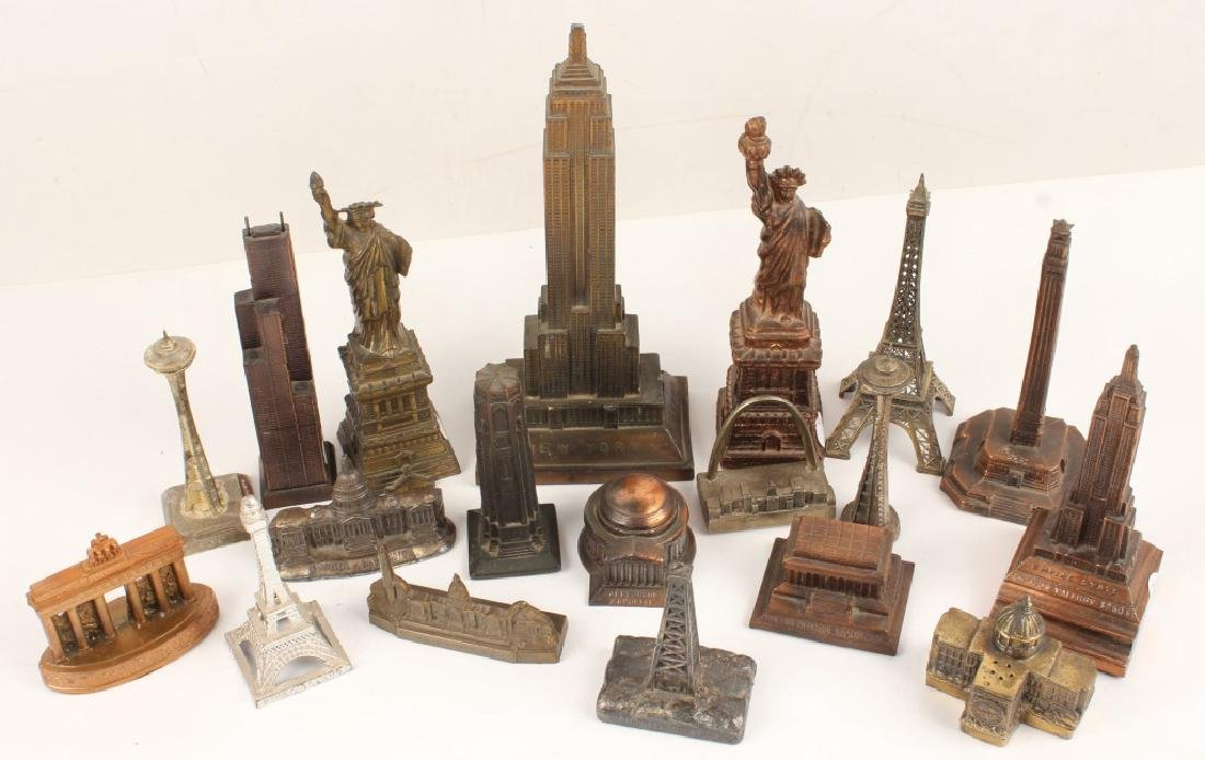 LOT OF 20 CAST MODEL BUILDINGS