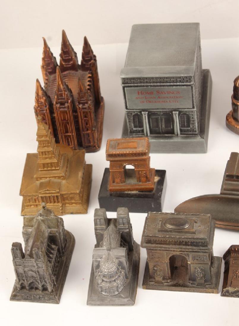 LOT OF 18 CAST MODEL BUILDINGS - 2