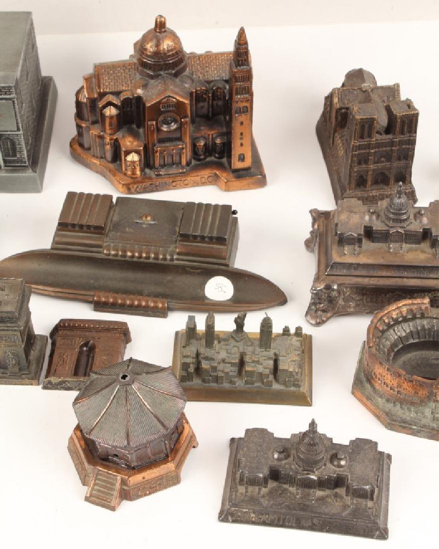 LOT OF 18 CAST MODEL BUILDINGS - 3
