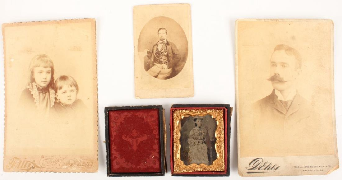 FOUR 19TH CENTURY PHOTOGRAPHS