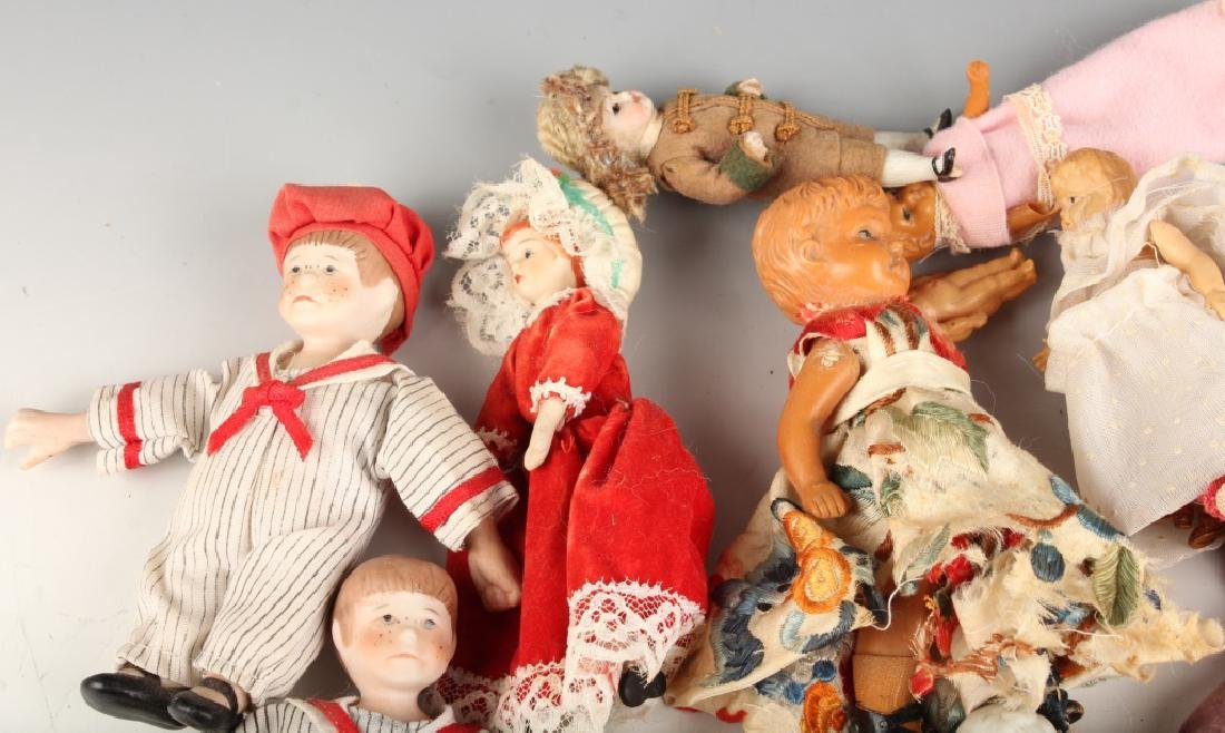EARLY TO MID 20TH CENTURY PORCELAIN PLASTIC DOLLS - 2