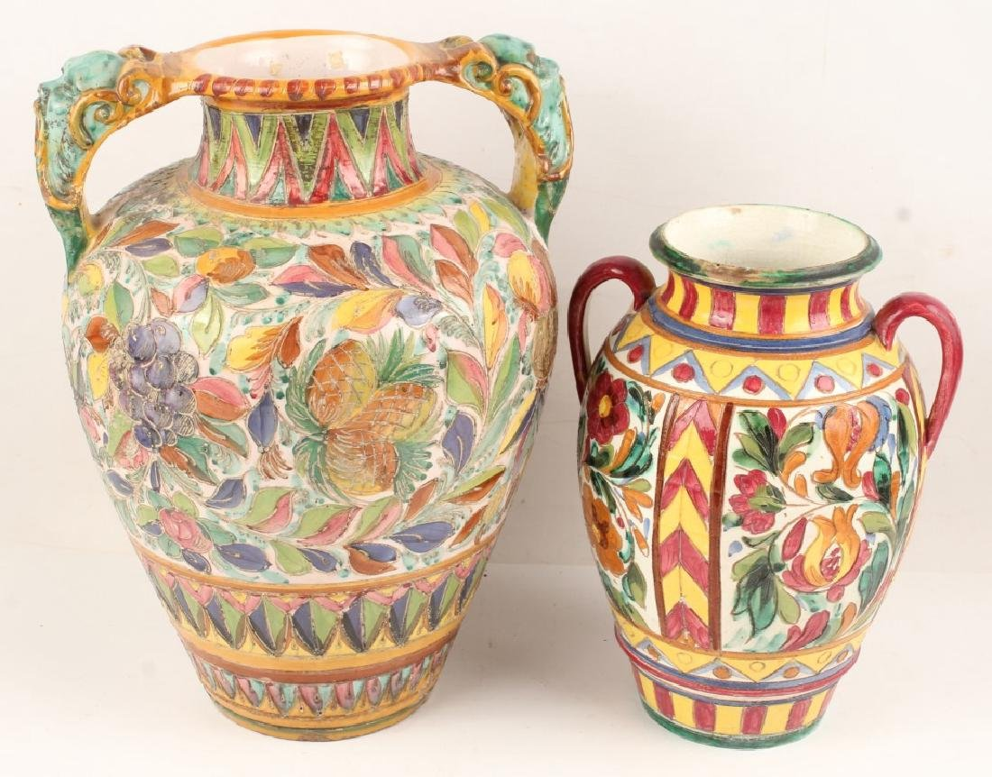 PAIR OF HANDCRAFTED ITALIAN CERAMIC VASES