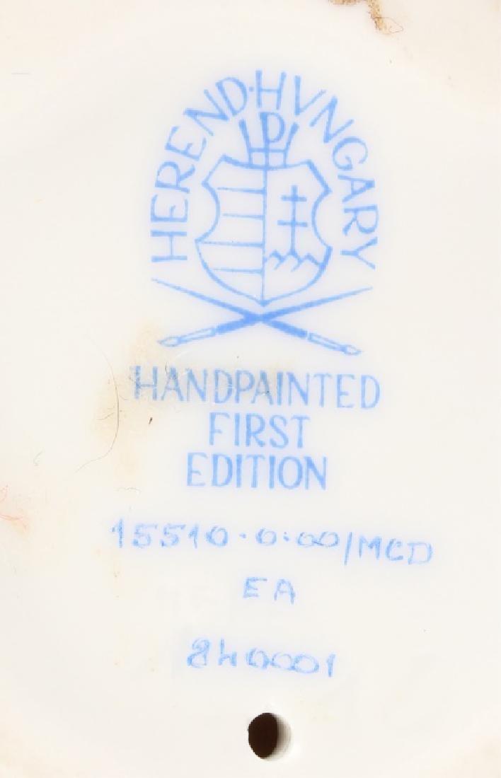 HEREND HUNGARY PORCELAIN BUNNY FIGURINE - 3