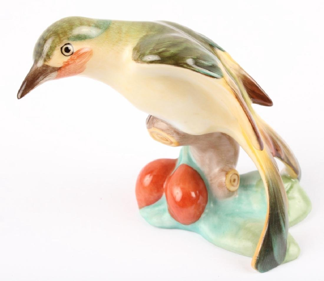 HEREND HUNGARY PORCELAIN BIRD FIGURINE