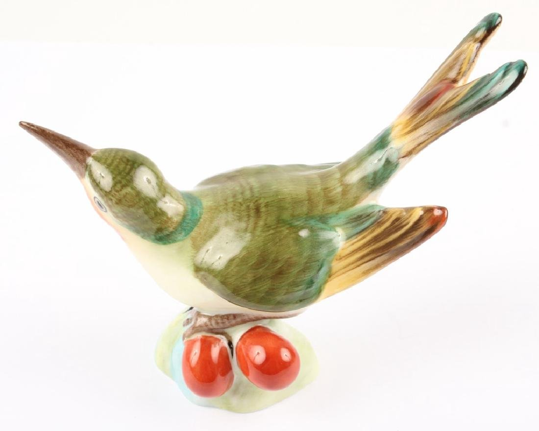 HEREND HUNGARY PORCELAIN BIRD FIGURINE - 2
