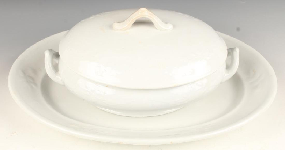 IRONSTONE CHINA OVAL PLATTER AND COVERED TUREEN
