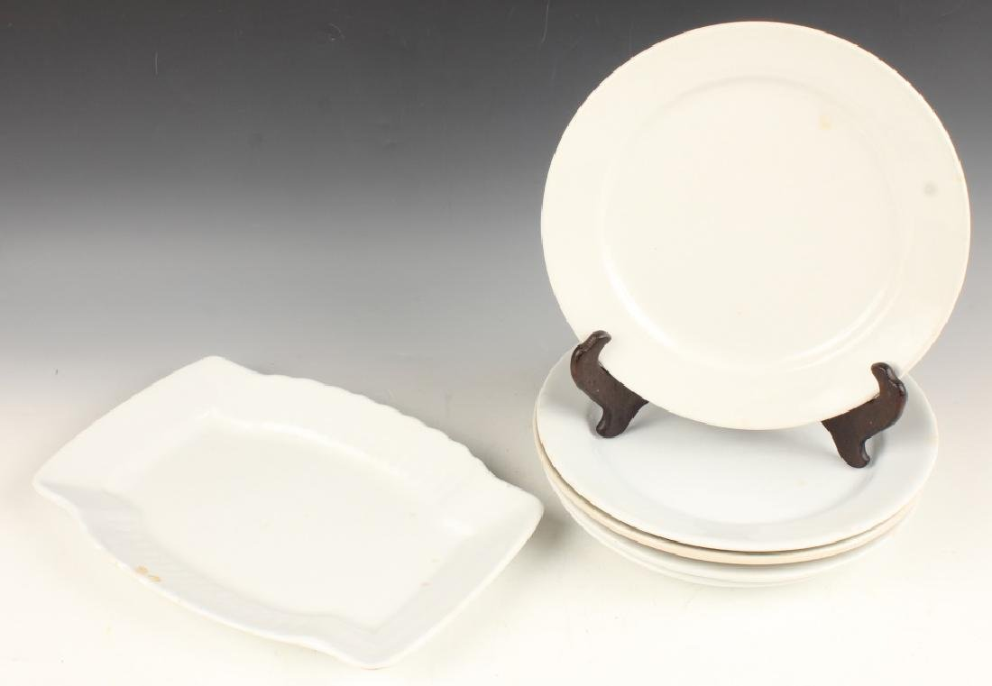 19TH CENTURY IRONSTONE PLATES AND SERVING TRAY