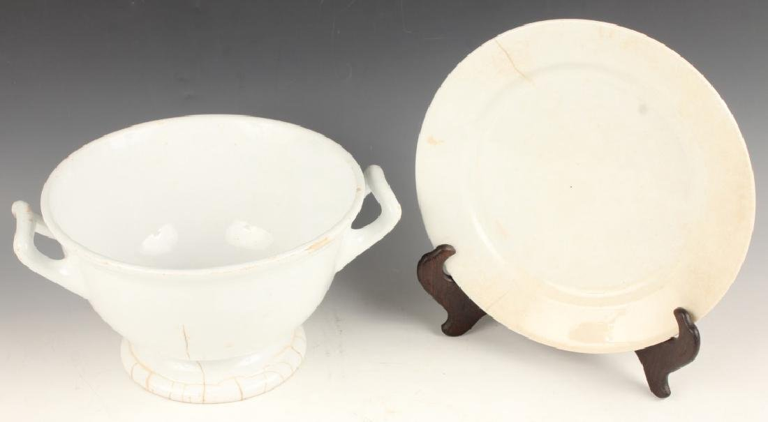 WEDGEWOOD IRONSTONE CHINA PLATE AND PUNCH BOWL