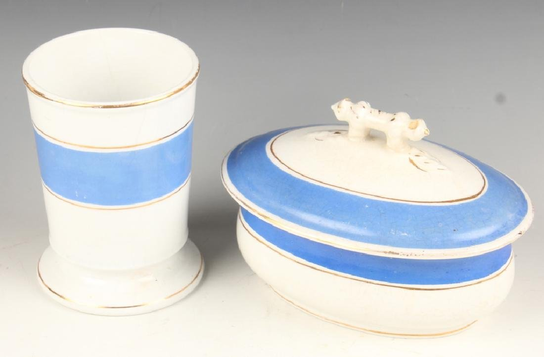19TH CENTURY IRONSTONE CHINA CHAMBER SET PIECES