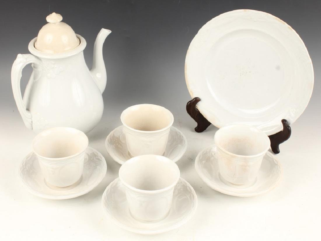 IRONSTONE CHINA TEA SET TEAPOT TEACUPS SAUCERS