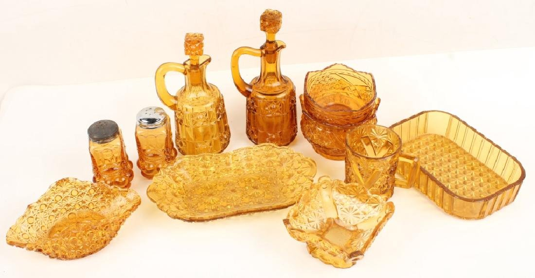AMBER GLASSWARE DECANTERS SHAKERS & MORE