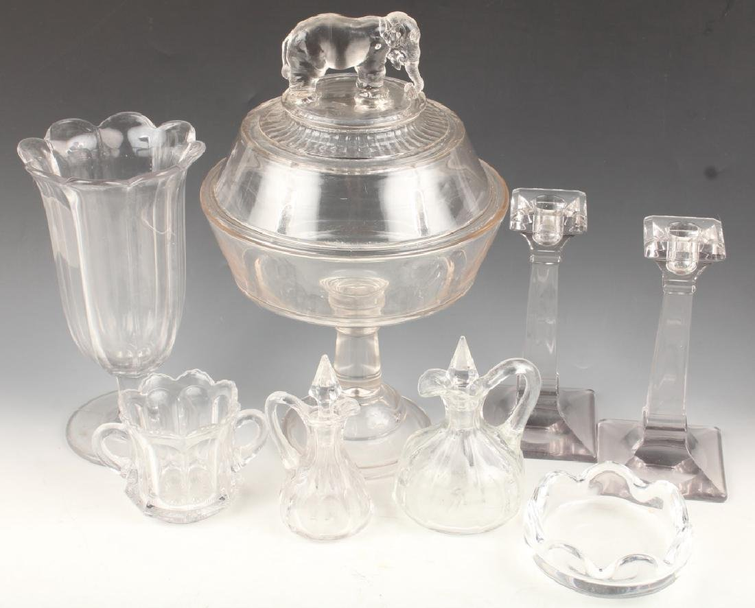 CONTEMPORARY CLEAR GLASS CAKE STAND VASE DECANTERS