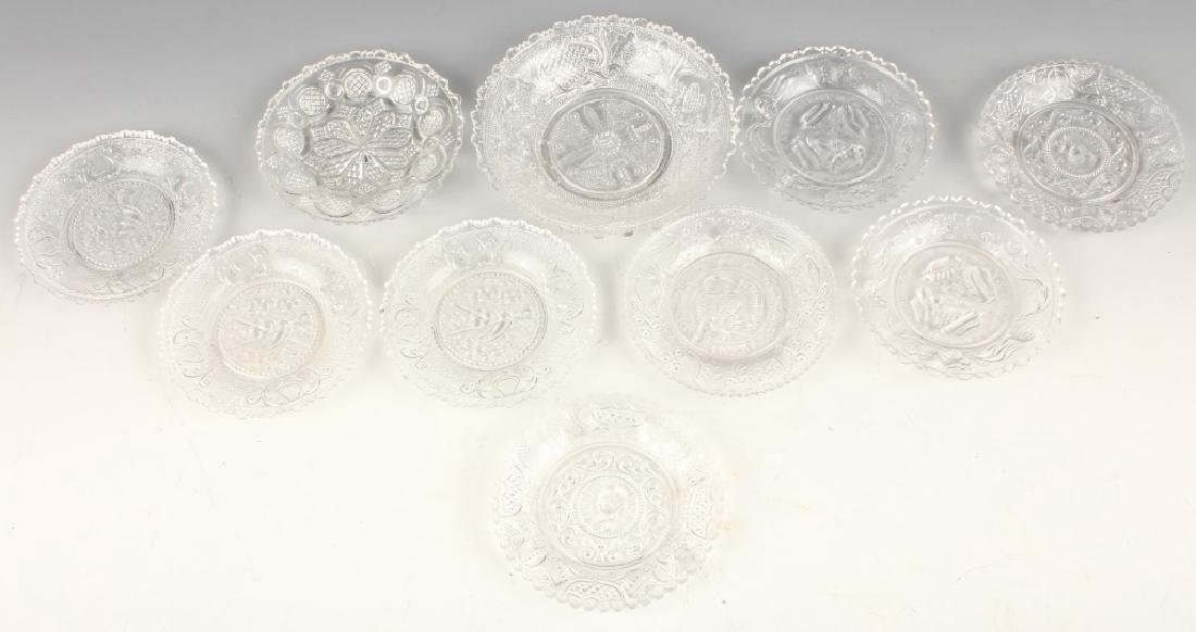 CLEAR GLASS BOSTON AND SANDWICH CUP PLATES