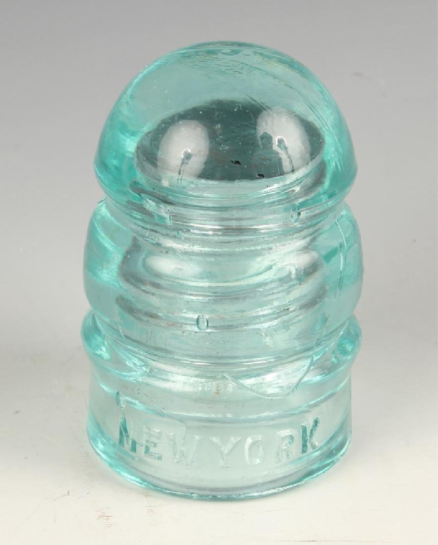 BROOKFIELD GLASS ELECTRIC INSULATOR AQUA #4