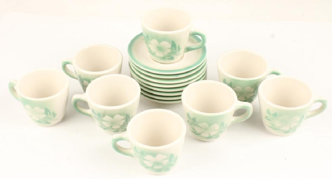 8 SYRACUSE CHINA TEACUPS AND SAUCERS MILLBROOK