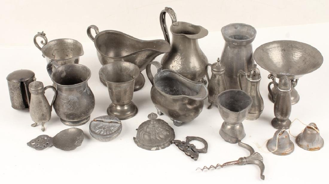 PEWTER SERVING PIECES SHAKERS CREAMERS & MORE